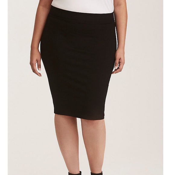 1d110be99f H&M Skirts | Bnwt Hm Plus Size 4x Black Ponte Pencil Skirt | Poshmark